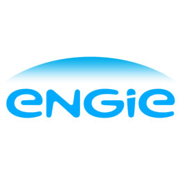 Logo de l'entreprise engie en bleu sur fond blanc