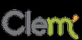 Logo de l'entreprise clem sur fond blanc