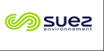 Logo du groupe suez en blanc et vert pour un standard virtuel