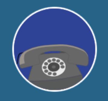 Icône standard virtuel sur fond bleu