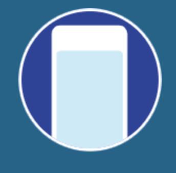 Icône illustrant la fonction d'appel sortant sur fond bleu