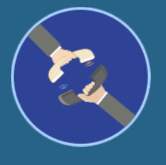 Icône qui illustre le pré-décroché sur fond bleu