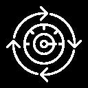 Icône illustrant l'agilité en rapport avec le standard téléphonique